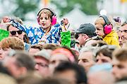 Fans watch as Father John Misty play the Obelisk stage - The 2016 Latitude Festival, Henham Park, Suffolk.