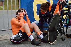 Shirin van Anrooij (NED) at the 2020 UEC Road European Championships - Junior Women ITT, a 25.6 km individual time trial in Plouay, France on August 24, 2020. Photo by Sean Robinson/velofocus.com