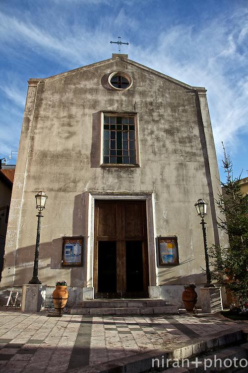 Church along Via di Giovanni in Taormina, Sicily