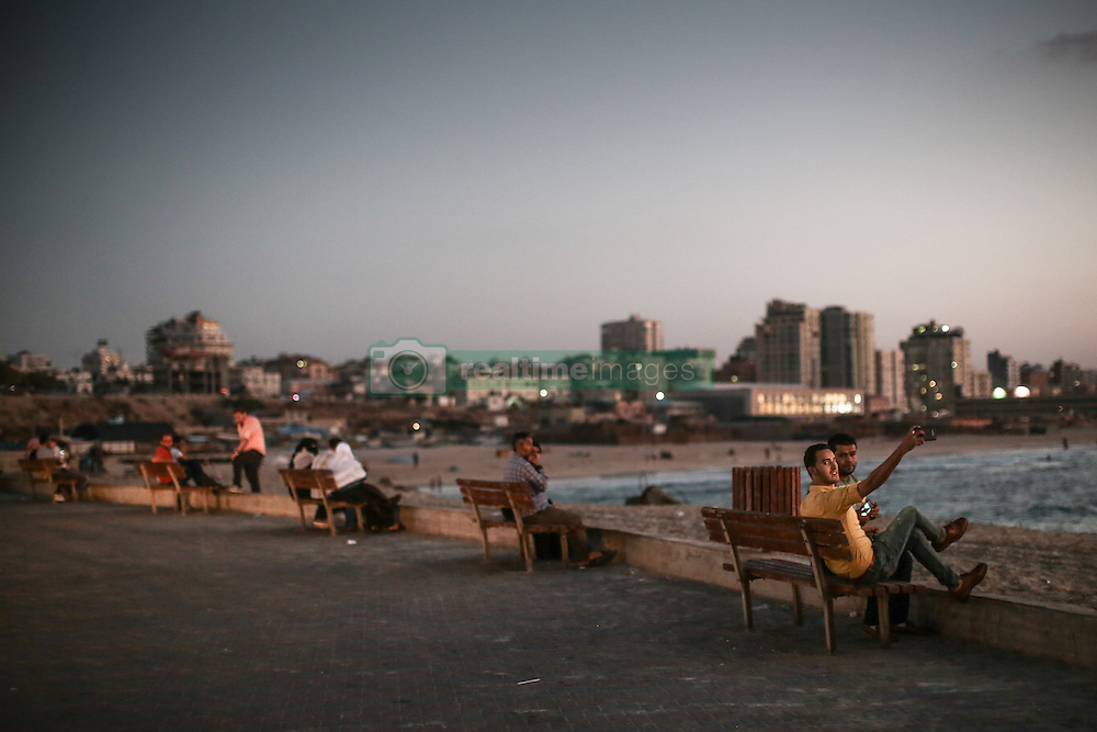 A view of the sea front at dusk in Gaza City. From a series of photos commissioned by  British NGO, Medical Aid for Palestinians (MAP).