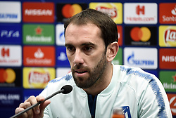 December 10, 2018 - Bruges, Belgique - BRUGGE, DECEMBER 10 : Atletico's captain Diego Roberto Godin pictured during press conference the day before the UEFA Champions League group A match between Club Brugge KV and Atletico Madrid on December 10, 2018 in Brugge, 10/12/2018 (Credit Image: © Panoramic via ZUMA Press)