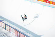 Emily Arthur, Australia, during the womens halfpipe final at the Pyeongchang Winter Olympics on 13th February 2018 at Phoenix Snow Park in South Korea