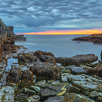Coast of Maine sunrise at Bald Head Cliff in York on Cape Neddick. The scenic Bald Head Cliff is located at the The Cliff House, a luxury New England resort hotel near Ogunquit, ME. <br /> <br /> The impressive cliff is approximately 36 feet height making for a stunning seaview and seascape photography.<br /> <br /> Bald Head Cliff Maine seascape photography image artworks are available as museum quality photography prints, canvas prints, acrylic prints, wood prints or metal prints. Prints may be framed and matted to the individual liking and decorating needs.<br /> <br /> Good light and happy photo making!<br /> <br /> My best,<br /> <br /> Juergen