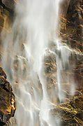 Detail of Bridalveil Fall, Yosemite Valley, Yosemite National Park, California USA