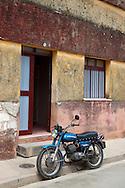 Motorcycle in Gibara, Holguin, Cuba.