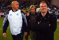 Fotball<br /> Frankrike 2003/04<br /> Monaco v Olympique Marseille<br /> 9. mai 2004<br /> Foto: Digitalsport<br /> NORWAY ONLY<br /> <br /> SJOSE ANIGO (OM CAOCH) / DIDIER DESCHAMPS (MONACO COACH) / LAURENT PAGANELLI (CANAL + CONSULTANT)