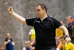 Branko Tamse, head coach of Gorenje during handball match between RK Gorenje Velenje vs RK Cimos Koper in 8th Round of 1st NLB Leasing league 2011/12, on May 12, 2012 in Rdeca dvorana, Velenje, Slovenia.  (Photo by Vid Ponikvar / Sportida.com)