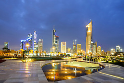 Skyline of CBD of Kuwait City from Al Shaheed Park in Kuwait