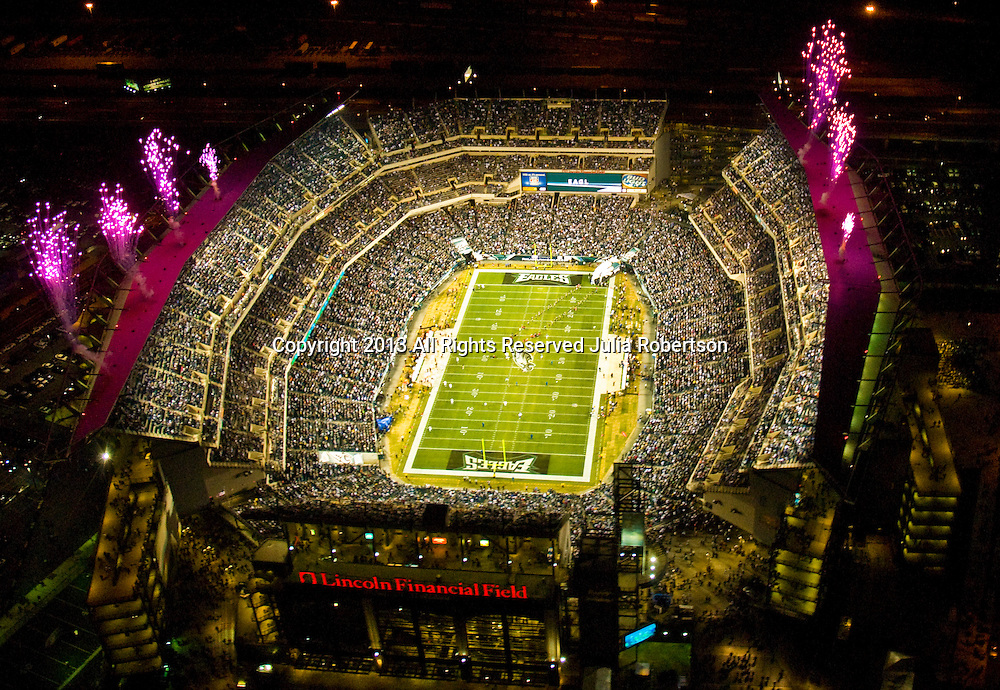 Aerial  view of Philadelphia Eagles vs Cleveland Browns at Lincoln Financial Field on December 15th 2008 Monday Night Game during Pregame Ceremony. Aerial  view of Philadelphia Eagles vs Cleveland Browns at Lincoln Financial Field on December 15th 2008 Monday Night Game during Pregame Ceremony.
