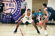 NORTH AUGUSTA, SC. July 10, 2019. Scottie Barnes  2020 #1 of Nightrydas Elite 17U at Nike Peach Jam in North Augusta, SC. <br /> NOTE TO USER: Mandatory Copyright Notice: Photo by Jon Lopez / Nike
