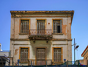 Old dilapidated building in Athens Greece
