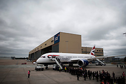 04/07/2013 . London, UK.  A Boeing 787 dreamliner at Heathrow Airport on July 4, 2013. It was the first time British Airlines have taken delivery of the new plane, making British Airways the first European airline to operate both the 787 and A380. Photo credit : Ben Cawthra/