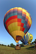Hot air balloons over the Rivanna River in Charlottesville, VA. Photo/Andrew Shurtleff