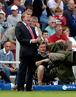 Fotball<br /> England 2005/2006<br /> Foto: SBI/Digitalsport<br /> NORWAY ONLY<br /> <br /> FA Barclays Premiership<br /> Middlesbrough v Charlton<br /> 28/08/2005.<br /> <br /> Middlesbrough manager Steve McClaren cannot believe his team's performance.