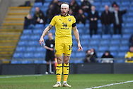Oxford United forward Jamie Mackie (19) with head injury bandaged up during the EFL Sky Bet League 1 match between Oxford United and Sunderland at the Kassam Stadium, Oxford, England on 9 February 2019.