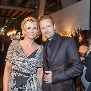 NLD/Amsterdam/20151210 - Vipnight LXRY Masters of Luxery 2015, Anita Witzier en partner Michel Nillesen