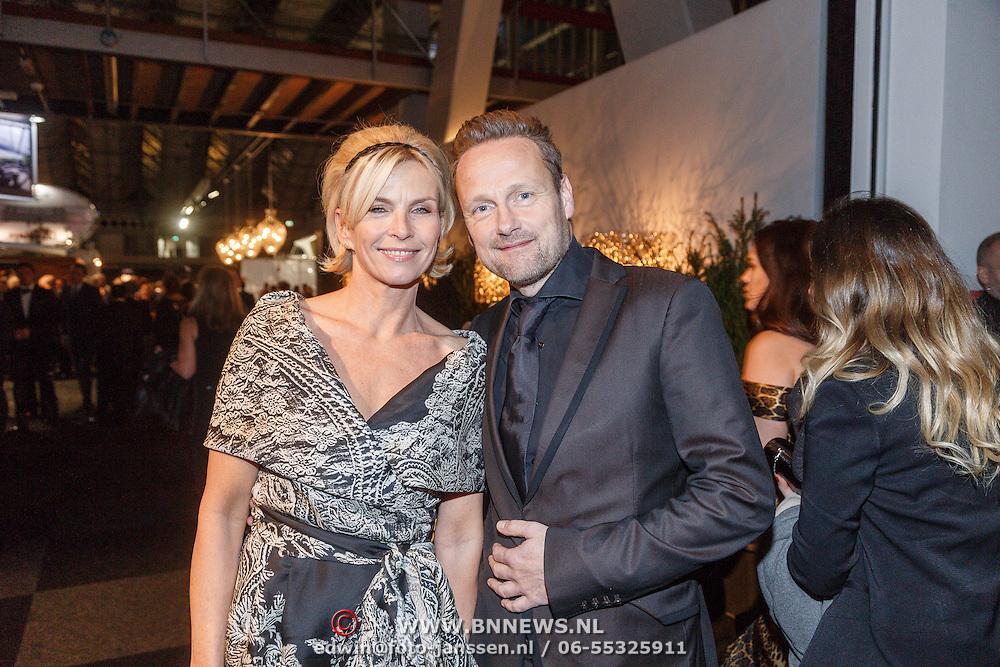 NLD/Amsterdam/20151210 - Vipnight LXRY Masters of Luxery 2015, Anita Witzier en partner Michel Nillesen