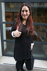 © Licensed to London News Pictures. 14/11/2019. London, UK. Luciana Berger arrives at Glaziers Hall, London for the Lib Dems Press Conference. Luciana Berger and Chuka Umunna unveil the Lib Dems party's Plan for Equalities and Human Rights. The plan is at the heart of the party's vision to build a brighter future for everyone. Photo credit: Alex Lentati/LNP