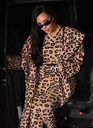 Kim Kardashian is seen Smiling as she arrives at Costes bar in Paris. 05 Mar 2019 Pictured: Kim Kardashian. Photo credit: Neil Warner/MEGA TheMegaAgency.com +1 888 505 6342
