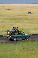 Park rangers of the Mara Conservancy, Masai Mara National Reserve, Kenya seen from the air