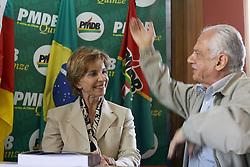 A governadora eleita do Rio Grande do Sul, Yeda Crusius (PSDB) durante econtro com o senador Pedro Simon no diretorio estadual do PMDB-RS. FOTO: Jefferson Bernardes/Preview.com