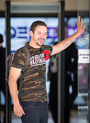 © Licensed to London News Pictures. 06/07/2016. London, UK. A man with a 'Operation Braveheart' t-shirt leaves QEII centre on the day Sir John Chilcot's Report of the Iraq Inquiry is published. The Inquiry was predicated to take approximately one year, but has taken seven. Photo credit : Tom Nicholson/LNP