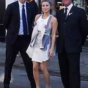 NLD/Amsterdam/20130905 - Lancering lingerielijn Pretty Wild, Victoria Koblenko met beveiligers