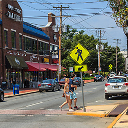 Newark, DE – June 24, 2013: Downtown main street near the University of Delaware campus.