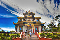 Vista do Templo Terra Pura de Padmasambava, no Centro Budista Khadro Ling, em Três Coroas - RS. FOTO: Jefferson Bernardes / Preview.com