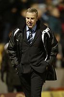 Photo: Aidan Ellis.<br /> Bradford City v Swansea City. Coca Cola League 1. 13/01/2007.<br /> Swansea's Kenny Jackett trudges off after the ref gave Bradford a late penalty