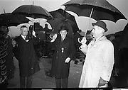15/04/1966<br /> 04/15/1966<br /> 15 April 1966<br /> Unveiling of Plaque at Boland's Mills. President Eamon de Valera unveils a plaque to commemorate the 1916 Rising at Bolands Mills, where he was Commandant during the insurrection. Picture shows attendees including Sean Lemass TD (centre) at the ceremony.