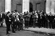 22/9/1970<br /> 9/22/1970<br /> 22 September 1970<br /> <br /> Photo of the Press waiting to take pictures of people walking into the Four Courts