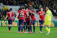 Joie Jonathan DELAPLACE - 31.01.2015 - Nantes / Lille - 23eme journee de Ligue 1 -<br />Photo : Vincent Michel / Icon Sport