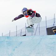 Snowboard-Cross racer Lindsey Jacobellis (USA) leads Maelle Ricker (CAN) and Sandra Frei (SUI) during semi-final race action at the 2009 LG Snowboard FIS World Cup on February 13th, 2009 at Cypress Mountain, British Columbia. Mandatory Photo Credit: Bella Faccie Sports Media\Thomas Di Nardo. Contact: Thomas Di Nardo, Snohomish, Washington, USA. Telephone 425-260-8467. e-mail: tom@bellafaccie.com