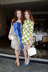 Left to right, OLIVIA GRANT and ANGELA SCANLON at an evening of Dinner & Dancing at Daphne's, 112 Draycott Avenue, London SW3 on 24th July 2013.