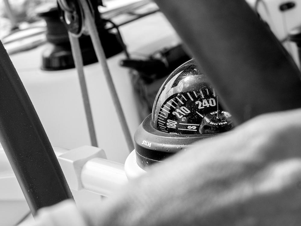 December 11, 2014. Leg 2 onboard Team SCA. A salt crusted compass.