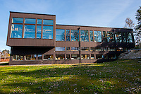The exterior design of the Carl Malmsten Furniture Studies building. The school is part of Linköping University but is located on the island of Lidingö in Stockholm.