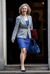 © licensed to London News Pictures. London, UK 18/03/2015. Environment Secretary Liz Truss attending to a cabinet meeting in Downing Street on the Budget Day, Wednesday, 18 March 2015. Photo credit: Tolga Akmen/LNP