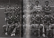 Cork-All-Ireland Hurling Champions 1984. Back Row: Donal O'Grady, Tomas Mulcahy, Tim Crowley, Kevin Hennessy, Ger Cunningham, J Barry Murphy, John Crowley. Front Row: Tony O'Sullivan, Denis Mulcahy, Dermott McCurtain, Tom Cashman, John Fenton (capt), John Hodgins, Pat Hartnett, Seanie O'Leary.