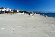 Concrete promenade, waterfront, Opatija, Croatia