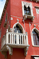 Window & balcony of a Venetican house . Piran , Slovenia Visit our PHOTO COLLECTIONS OF SLOVANIAN  HISTOIC PLACES for more photos to download or buy as wall art prints https://funkystock.photoshelter.com/gallery-collection/Pictures-Images-of-Slovenia-Photos-of-Slovenian-Historic-Landmark-Sites/C0000_BlKhcYWnT4Sites/C0000qxA2zGFjd_k