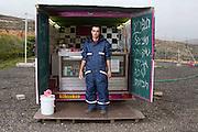 Para para snack bar on the way to Jerusalem, off rt 443, near Modiin, Israel. Portrait - Documentary Photography by Debbie Zimelman