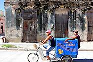 Bicycle delivery in Manzanillo, Granma, Cuba.