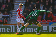 Kieran Sadlier of Doncaster Rovers (22) passes the ball during the EFL Sky Bet League 1 match between Doncaster Rovers and Coventry City at the Keepmoat Stadium, Doncaster, England on 4 May 2019.