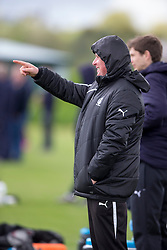 Falkirk's manager Peter Houston. Falkirk FC training for the Cup Final at Burnley's training ground.
