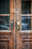 Close-up Image of ornate antique door on west broadway SoHo New York City, New York by Jacqueline C Agentis  Limited Edition 1 of 50
