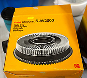 Yellow Kodak boxed slide tray for carousel projector