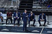 DESCRIZIONE : Bologna Lega A 2015-16 Obiettivo Lavoro Virtus Bologna - Umana Reyer Venezia<br /> GIOCATORE : Carlo Recalcati<br /> CATEGORIA : Allenatore Coach<br /> SQUADRA : Obiettivo Lavoro Virtus Bologna<br /> EVENTO : Campionato Lega A 2015-2016<br /> GARA : Obiettivo Lavoro Virtus Bologna - Umana Reyer Venezia<br /> DATA : 04/10/2015<br /> SPORT : Pallacanestro<br /> AUTORE : Agenzia Ciamillo-Castoria/GiulioCiamillo<br /> <br /> Galleria : Lega Basket A 2015-2016 <br /> Fotonotizia: Bologna Lega A 2015-16 Obiettivo Lavoro Virtus Bologna - Umana Reyer Venezia