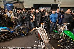 The Lowride Magazine Custom Bike Show during Motor Bike Expo. Verona, Italy. January 23, 2016.  Photography ©2016 Michael Lichter.