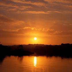 Piscataqua River. Tidal rivers. Sunrise.  New Castle, NH